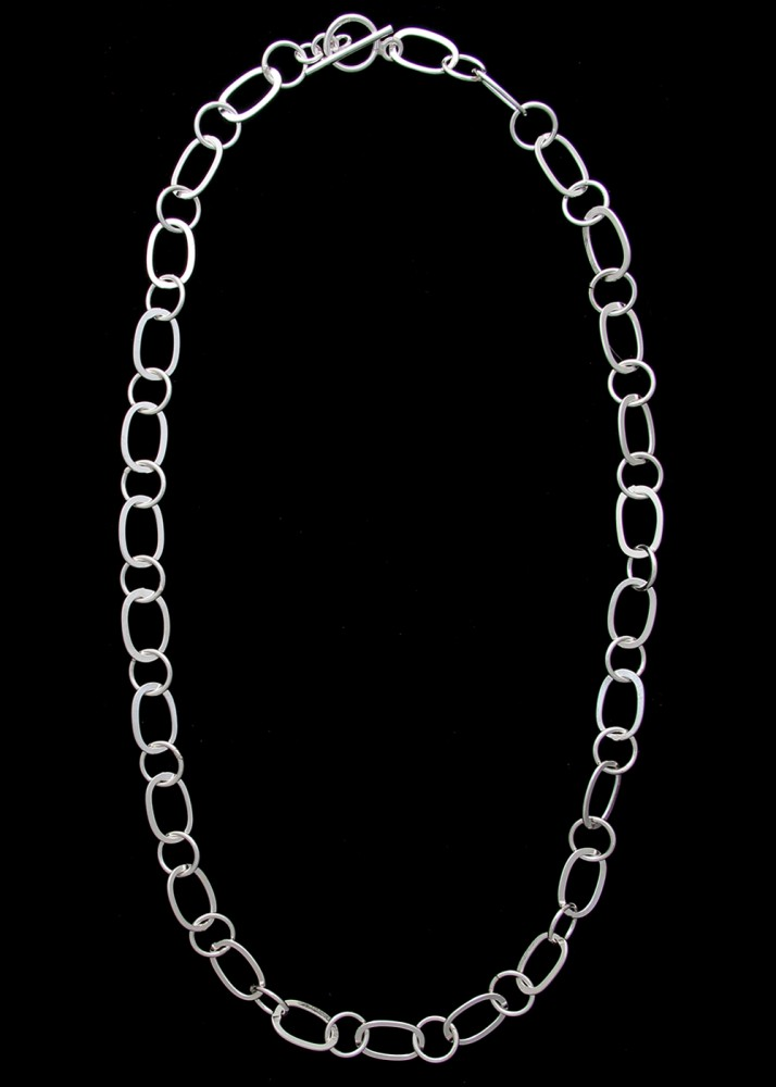 Forged Link Chains : Forged oval circle link necklace elysium inc